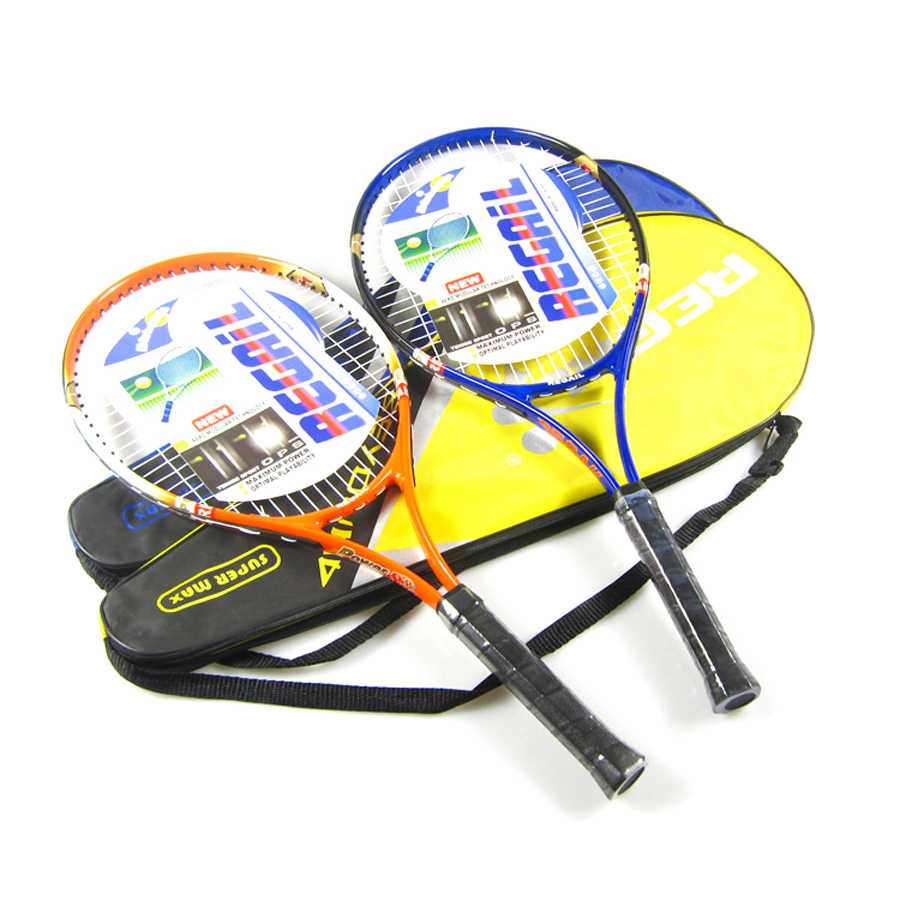 High Quality Aluminum Alloy Carbon Tennis Racket Fiber Men and Women Ultra Light Coach Recommended Training Racquets with Bag T4