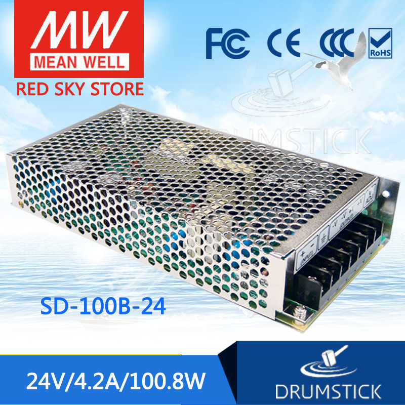 MEAN WELL SD-100B-5 5V meanwell SD-100 5V 100.8W Single Output DC-DC Converter genuine mean well sd 50b 5 5v 10a meanwell sd 50 5v 50w single output dc dc converter