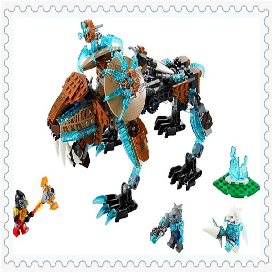 414Pcs Chimaed Saber-toothed Tiger Model Building Block Toys Enlighten 10293 Gift For Children Compatible Legoe 70143 lepin 22001 pirate ship imperial warships model building block briks toys gift 1717pcs compatible legoed 10210