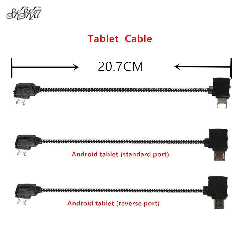 20,7 cm Cable de datos de Control remoto conexión de la tableta conector Nylon línea para DJI Mavic Pro/aire/Spark mavic 2 Drone