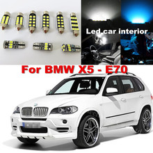 WLJH 20x Pure White Canbus No Error Car Dome Vanity Puddle Footwell Trunk Light LED Interior light Kit for BMW X5 E70 2007 -2013
