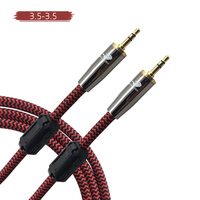 High Premium 3.5mm a 3.5mm AUX Auxiliar Cable de Extensión Masculino para el Altavoz Del Coche Auriculares iPhone Smartphone Cable de Audio 1 m 2 m 3 m