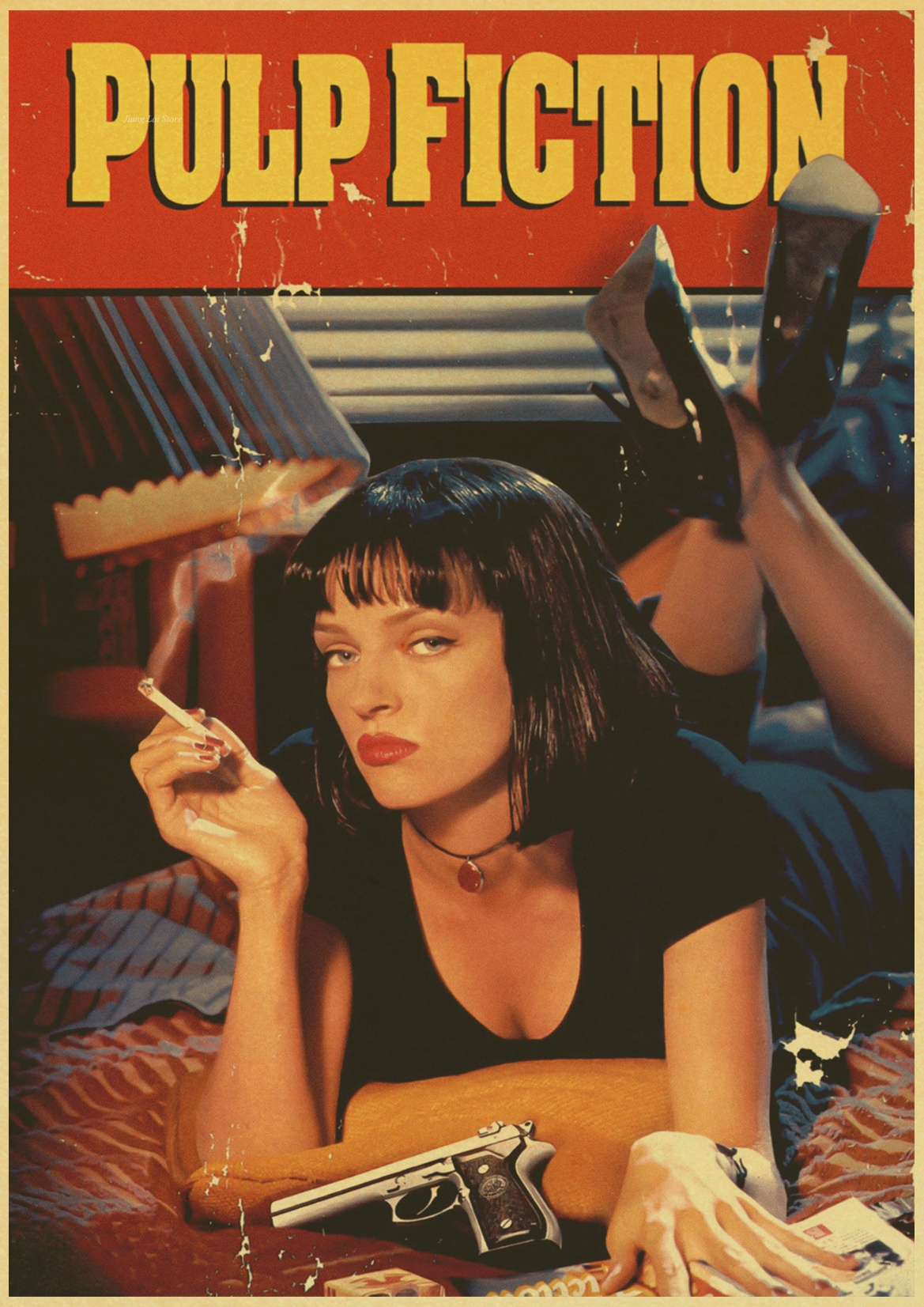 Quentin Tarantino KLASSISCHE FILM PULP FICTION Retro Poster Vintage poster  Wand Dekor Für Home Bar Cafe