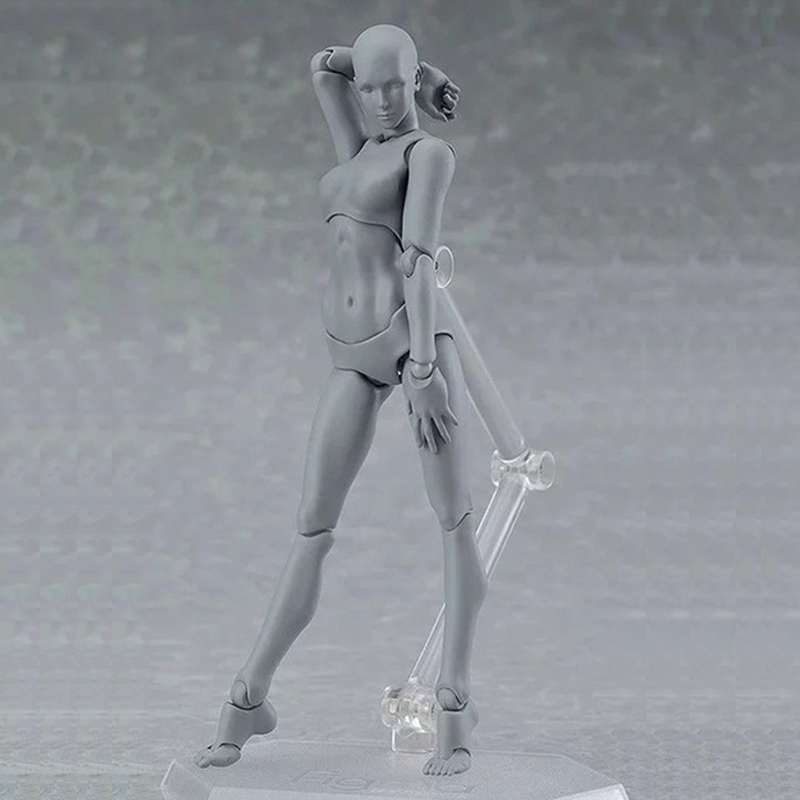 Hot 14.5cm Figma Archetype He She PVC Action Figure Human Body Joints Male Female Nude Movable Dolls Anime Models Collections