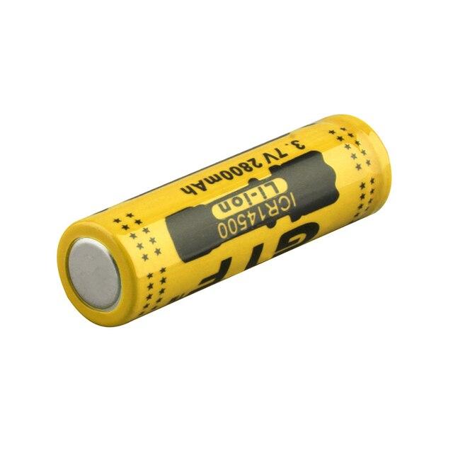 20PCS GTF 3.7V 2800mah 14500 배터리 리튬 이온 충전식 배터리 LED 손전등 휴대용 장치 도구 조명 도구 배터리