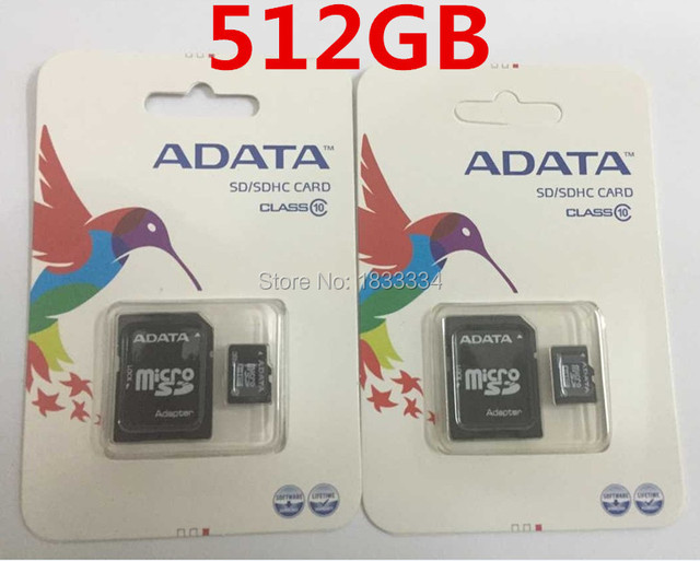 50pcslot Wholesale High Quality Adata 512gb Micro Sd Card Memory