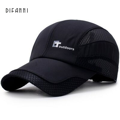 Summer Breathable Mesh Baseball Caps Thin Mercerized Cotton Wicking Hat Cool Mens Baseball Caps Brand Casual Women Fitted Hats fashion cotton butterfly pattern lace hollow jacquard hats for women summer elastic thin soft breathable beanie skullies hat