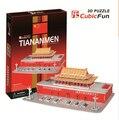Medium Size Cubic Fun 3D Paper Puzzle Beijing Tiananmen C713h 61pcs