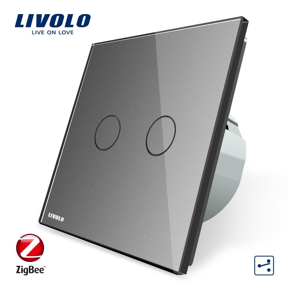 Image 5 - Livolo universal Wifi smart Wireless Intelligence App,wifi Wall Switches ,cross,2ways,Work ZigBee Switch,google home,echo ,alexa-in Switches from Lights & Lighting