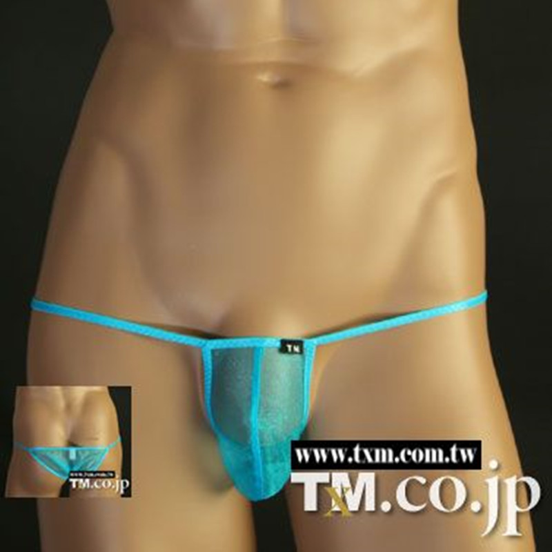 2019 New TM Brand Sexy Men's Crotch Underwear Underwear, Men's Sexy Underwear Sexy Penis Bag Bikini Waist Translucent Optical Ya
