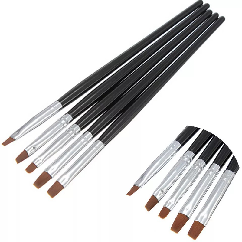5pcs Professional Nail Decorations Nail Art Brush Pens Nail Polish Painting Drawing Brushes Manicure Tools Set Pedicure Cleaner 5pcs lot 6400401 professional pedicure tools