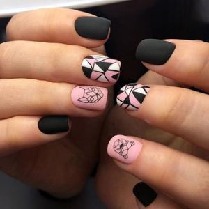 Image 3 - 1pc Abstract Animal 3D Nail Art Stickers Folding Lions Nail Sticker Origami Animal Flexagon Adhesive Decals