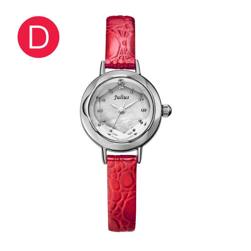 Reloj Simple de moda de oro rojo para chicas, bonito Reloj de cuarzo japonés, relojes de cuarzo a prueba de agua