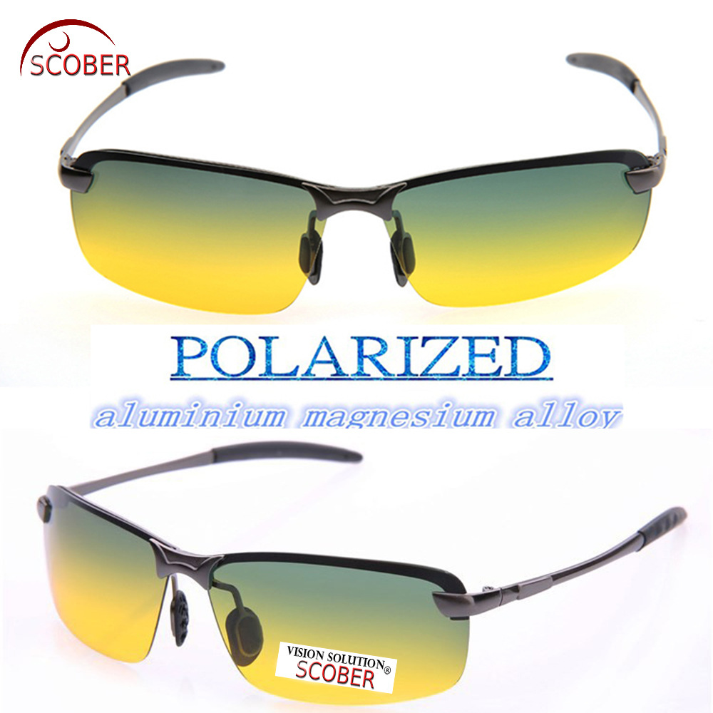 Buy Scober Magnesium Aluminum Alloy High Grade Kaca Mata Minus Sperichal Day And Night Men Women Polarized Sun Glasses Uv400 Sunglasses Driving From