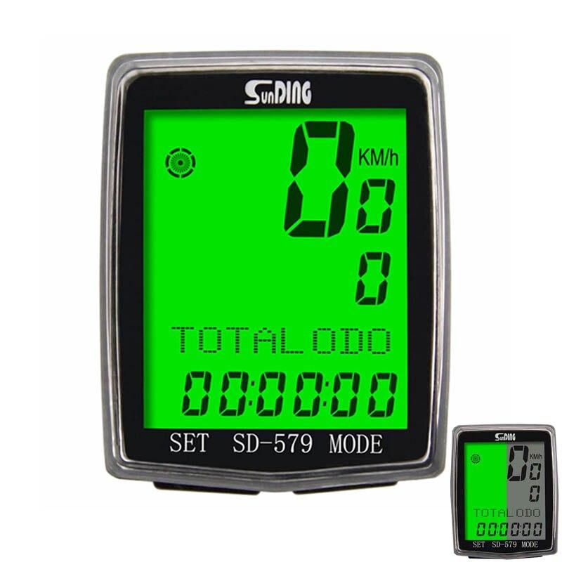 Sunding SD-579 Wireless Cycle Odometer Wired Bicycle Computer Speedometer Bike Stopwatch Temperature Speed Cadence Sensor sunding bluetooth 4 0 waterproof wireless combo cadence sensor