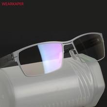WEARKAPER Einzigartige Keine schraube Design Brillen Rahmen Ultra Licht Ultra dünne Männer Myopie Spektakel Rahmen