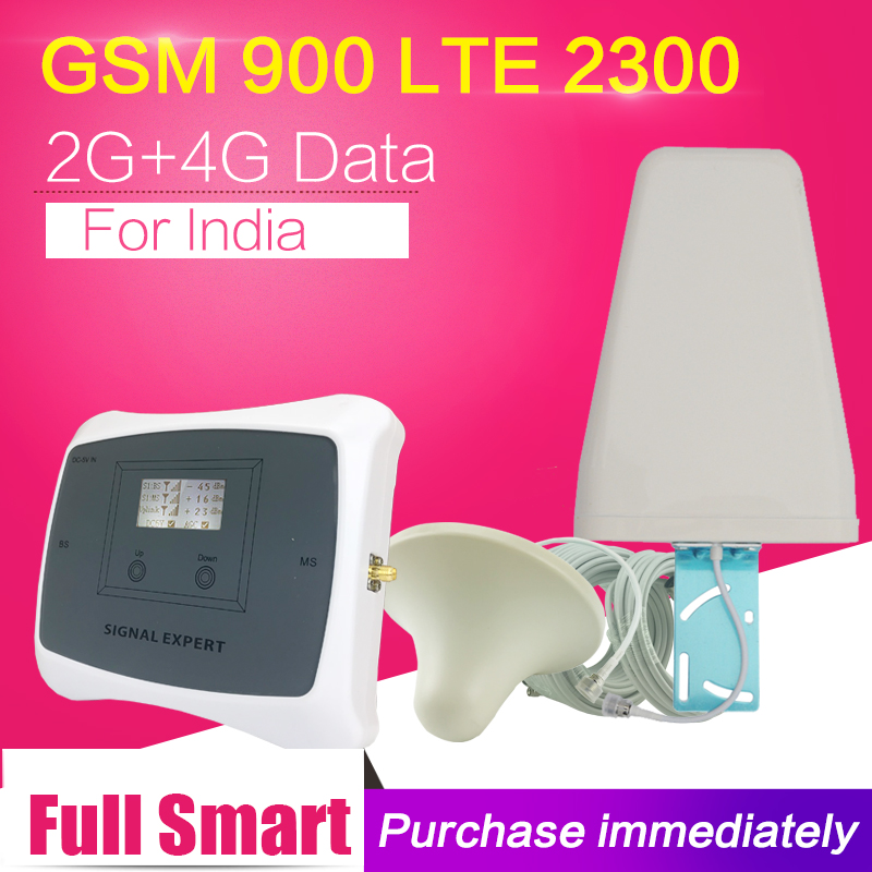 India Saudi Arabia Full Intelligent GSM 900 4G LTE TDD 2300 Mobile Signal Booster Amplifier GSM 4G Cell Phone Cellular Repeater