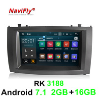 PX3 RK3188 Android 7.1 quad core car dvd radio player for Peugeot 407 2004 2010 car gps navigation stereo Autoradio multimedia