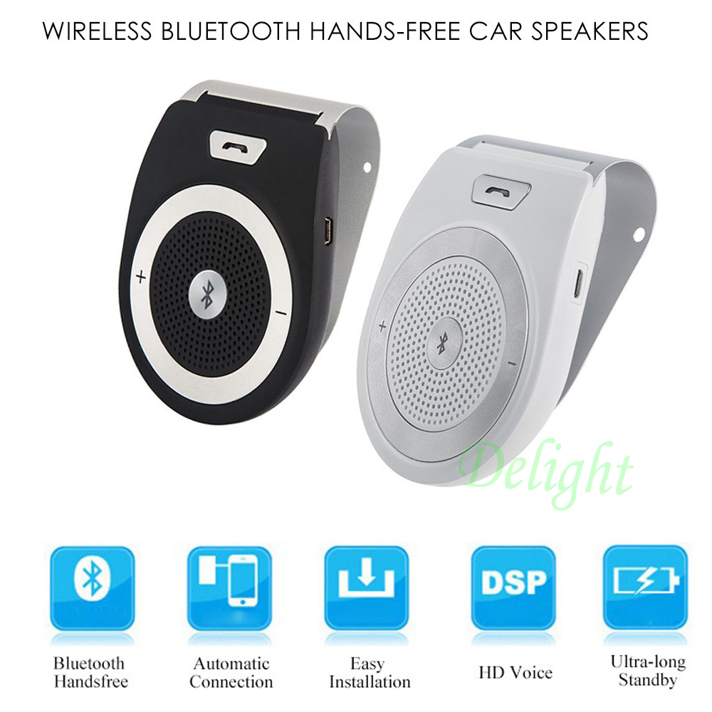 t821 wireless bluetooth car kit handsfree kit speaker aux microphone wireless aux bluetooth mp3. Black Bedroom Furniture Sets. Home Design Ideas