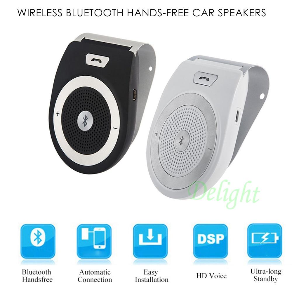 T821 Wireless Bluetooth Car Kit Handsfree Kit Speaker Aux Microphone Wireless Aux Bluetooth MP3 Player Car Kit Speakerphone