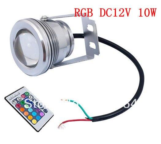 Hot Sale Designer 12V 10W LED RGB IR Remote Control FloodLight exterior Lamp with Remote Control Free Shipping