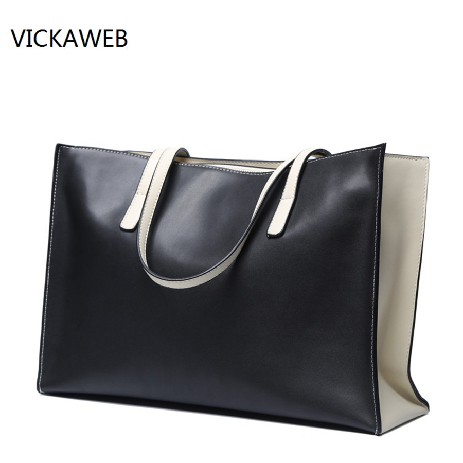 large casual women handbag genuine leather bag big real leather tote bags famous brand women leather handbags