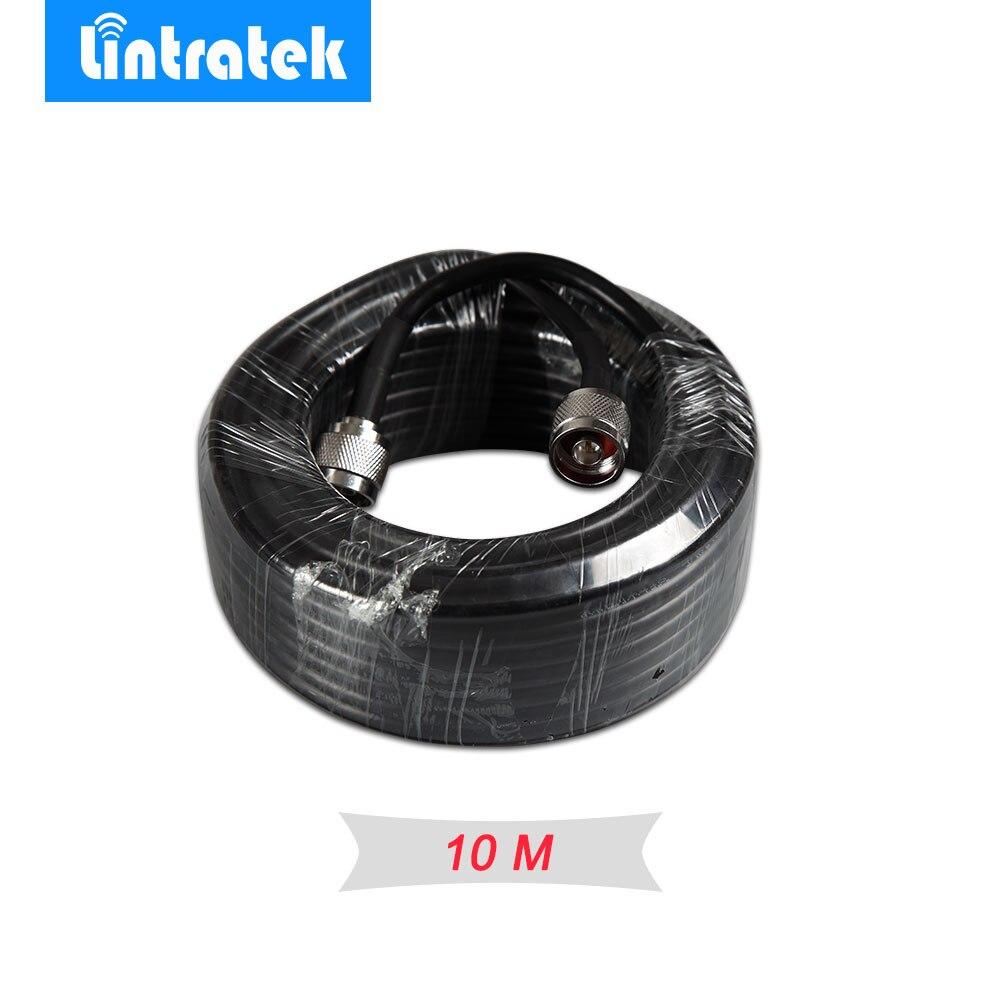 Al por mayor 10 metros negro Cable 50ohm calidad superior 5D Cable Coaxial 10 m N macho a N macho para la señal repetidor Booster y antena #15