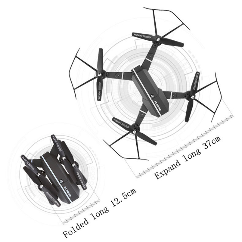Hiinst rc plane 2017 2.4G 4CH Altitude Hold HD Camera WIFI FPV RC Quadcopter Pocket Drone Selfie Foldable*R GIFT Drop
