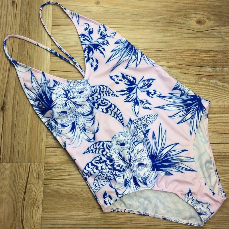 2017 New Sexy One Piece Swimsuit Print Bathing Suit Women High Quality Swimwear Women Summer Beach Wear Maillot De Bain Femme
