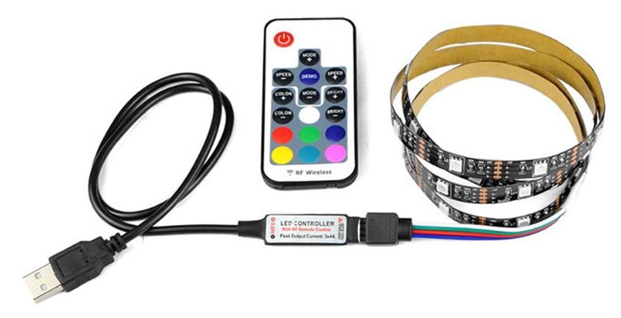 TV Backlight RGB LED Strip 5050 Waterproof 5V USB LED Tape String Bias lighting For HDTV Screen Desktop PC LCD Monitor Decoration (6)