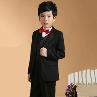 Kids Prom Suits Black Suits Toddler Boys Suits For Weddings Kids Tuexdo Big Children Clothing Set Boy Formal Classic Costume