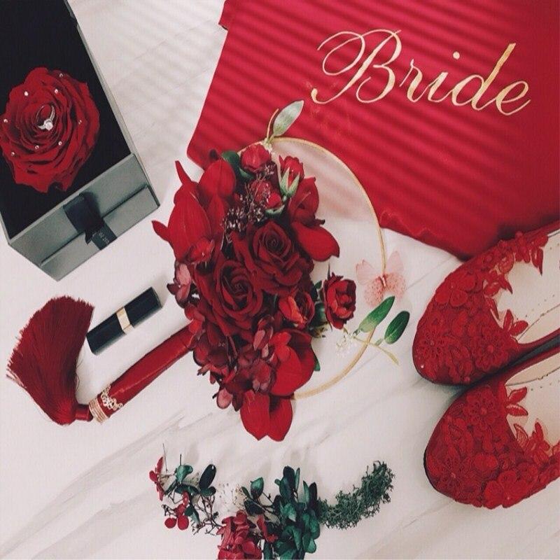 Original personnalisé chinois mariage mariée simulation à la main fleur soie robe ancien costume photographie livraison gratuite