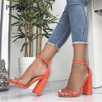 Perixir Women Pumps Fashion Heels Sandals For Women Summer Shoes Wedding Heels Women Buckle Strap High Heels Size 36 41