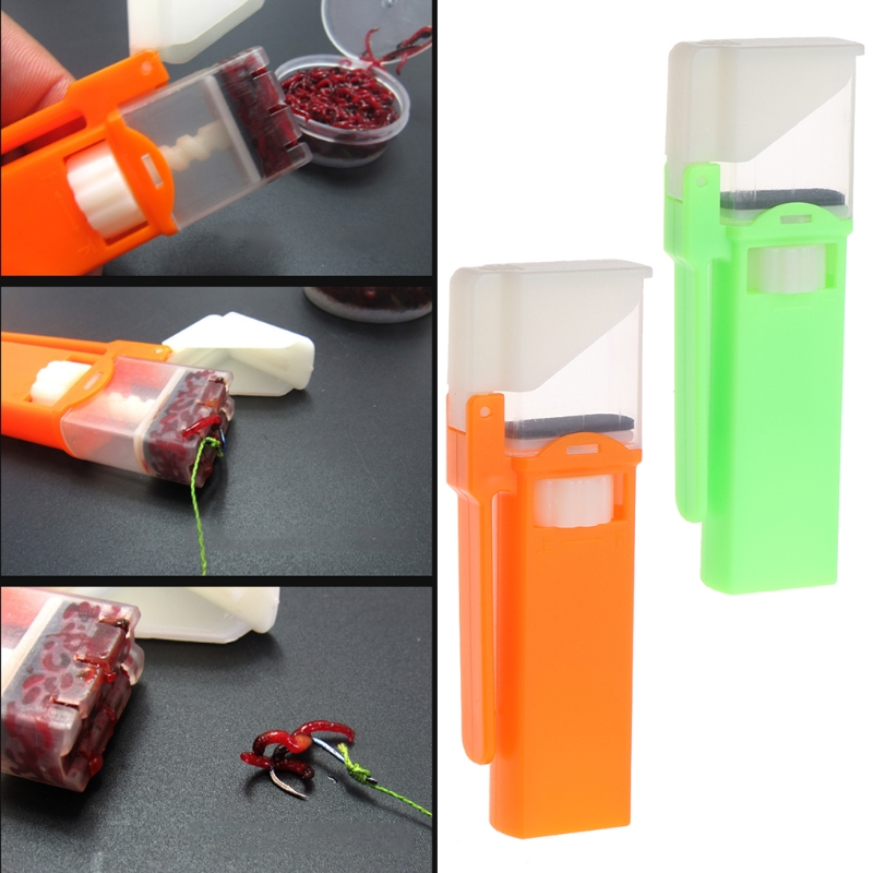 Red Worm Bait Bander Plastic Anti Bite Fishing Supply Hanging Tools