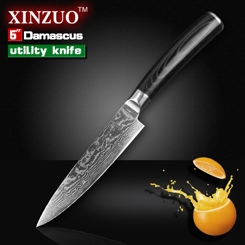 5 Utility font b knife b font high quality Japanese VG10 73 layers Damascus steel kitchen