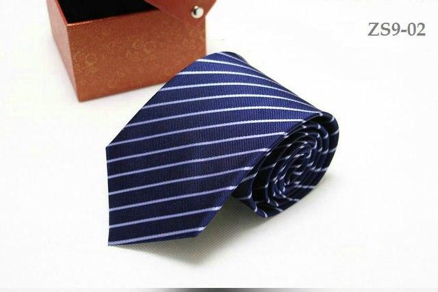 Cravate en soie véritable 9CM pour hommes | logo personnalisé, bandes disponibles, imperméable, plus 150CM