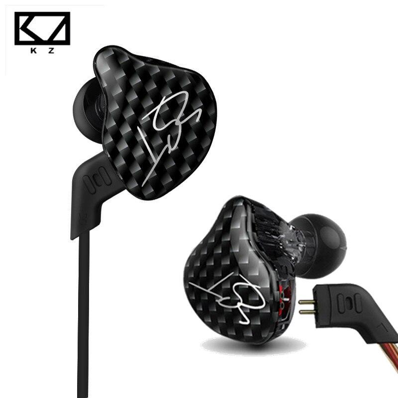 KZ Знч Арматура двойной драйвер наушников съемный кабель В Ухо Аудио мониторы Шум изоляция HiFi музыка спортивные наушники