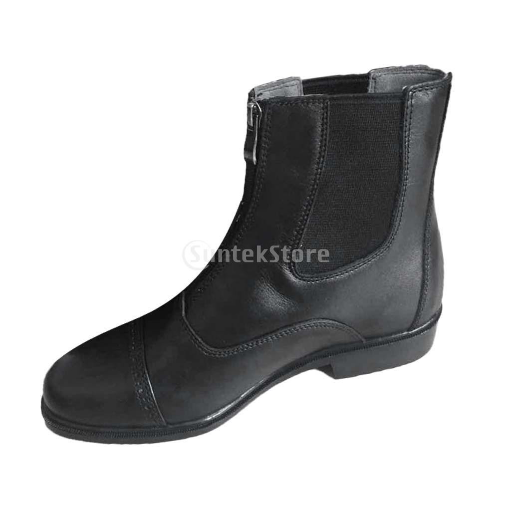 Paddock & Jodhpur Boots Zip Front Horse Riding Boots Leather paddock