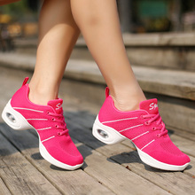 Sport Woman Sneakers Jazz Salsa Modern Dance Shoes Heighten Tap Shoes Ballroom Practice Shoes zapatos baile