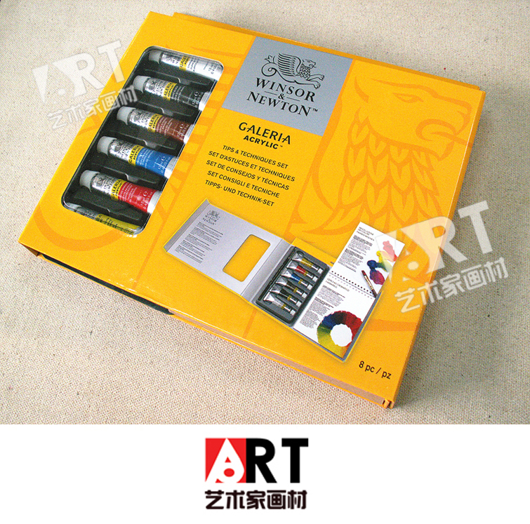 Фотография Free shipping New products listed ART senior acrylic pigment new techniques Guide suit 6 color 12ml