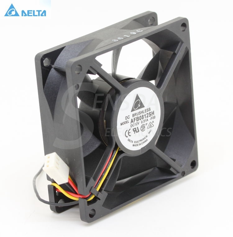 Original For Delta AFB0812SH -F00 8025 80mm 8cm DC 12V 0.51A speed computer case cpu server inverter cooling fans axial cooler free shipping wholesale original delta delta afb0912uhe f00 9238 90mm 12v 3 0a server axial powerful cooling fans