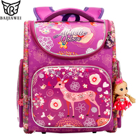 BAIJIAWEI 2019 New 3D Stereoscopic Kids Backpack High Quality School Bags For Children Primary School Waterproof Backpacks