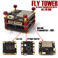 Flytower Integrated Transmitter w/ OSD F3 flight controller 4 in 1 ESC BLHeli Board Supports Oneshort125 PDB FPV Racing Drone