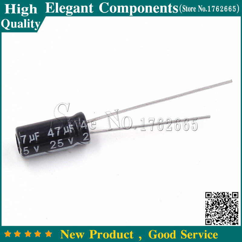 25PCS 100UF 25V  SMD  SURFACE MOUNT  ALUMINUM ELECTROLYTIC  CAPACITOR BOX#3