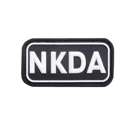 Military NKDA PVC LOGO Hook Loop  Patch Back Morale Patches Tactical Emblem Applique Combat Badges