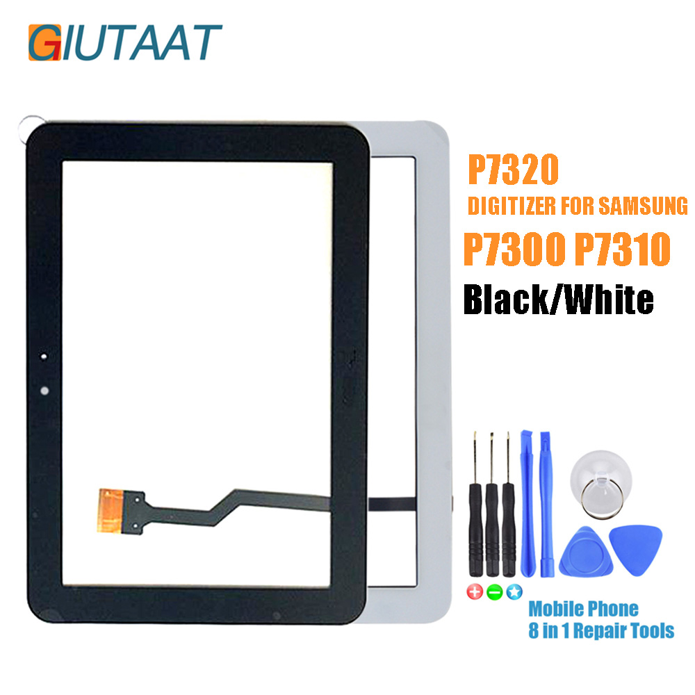 Black/White Replacement Touch <font><b>Screen</b></font> Digitizer Sensor Glass Panel For <font><b>Samsung</b></font> Galaxy Tab 8.9 <font><b>P7300</b></font> P7320 P7310 image