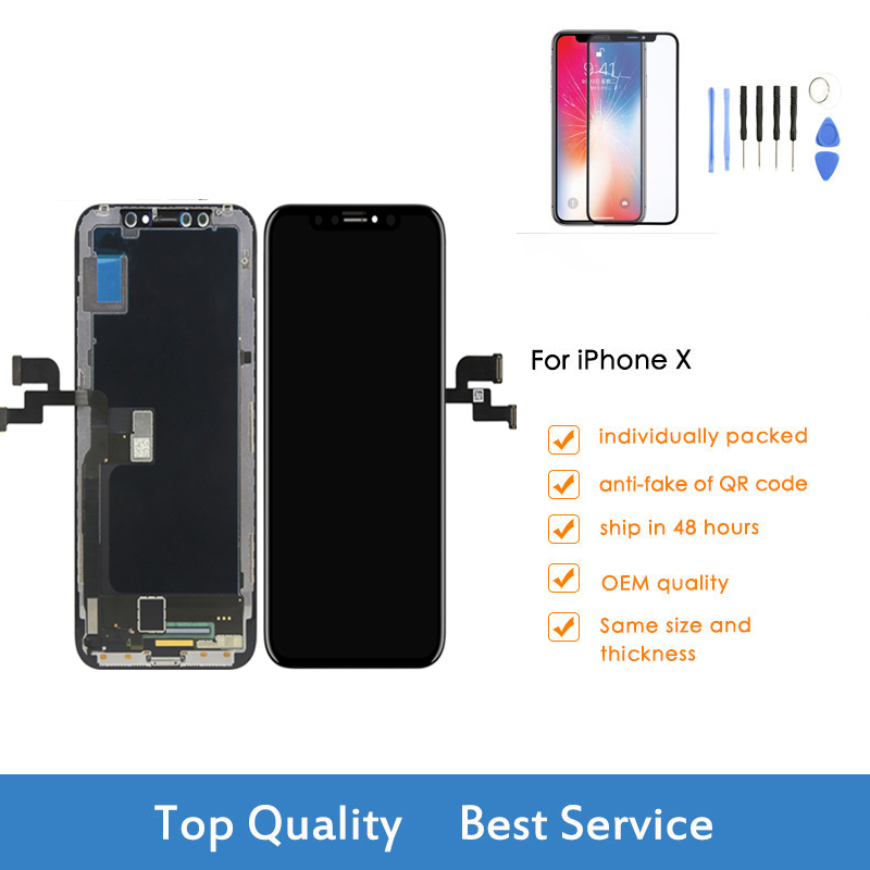 For iPhone X LCD Display Touch Screen No Dead Pixel Digitizer Assembly Replacement Parts For iPhone X MOLED Screen