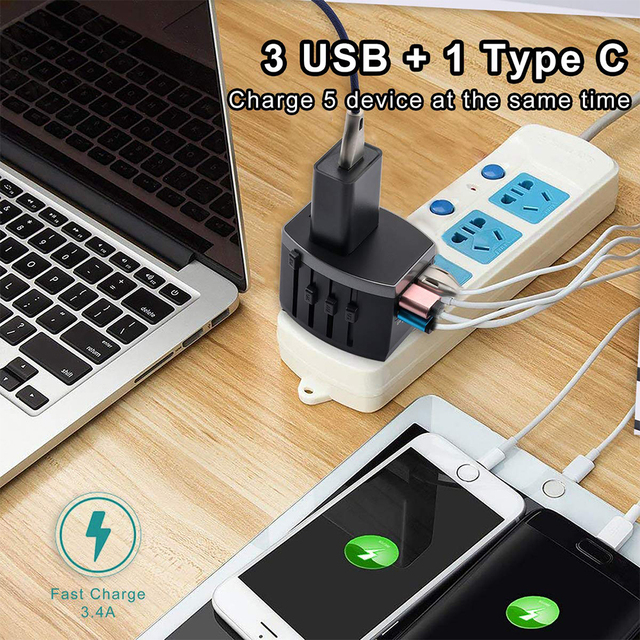 Business Travel Portable device International Power Adapter