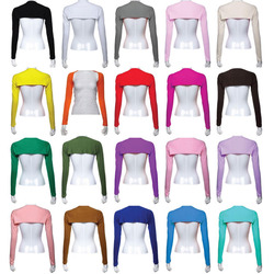 12PCS Stylish Women Hijab Muslim Armer Sleeves Cover Shrug Bolero Hayaa Armer Warmer Oversleeves Stretch 20 Colors Random Color