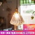 Современный простой красочный стеклянный подвесной светильник E27 4 цвета Светодиодная Подвесная лампа/droplight для столовой бара ресторана де...